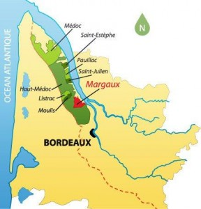 Medoc map 288x300 Maps Of Bordeaux Wine Producers, Appellations, Chateaux