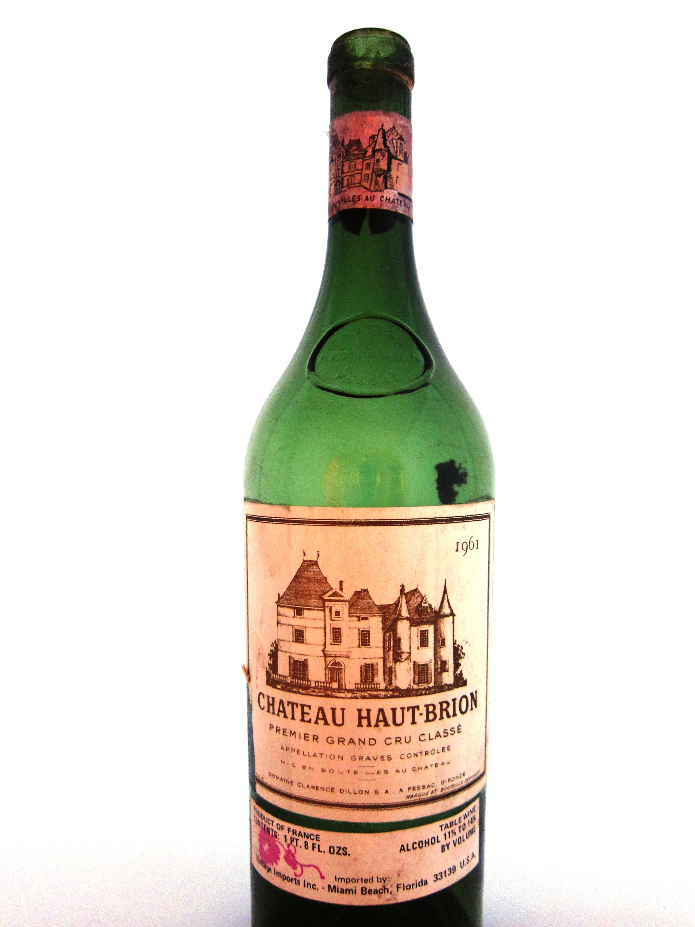 Chateu Haut Brion 1961 scores 100 Pts
